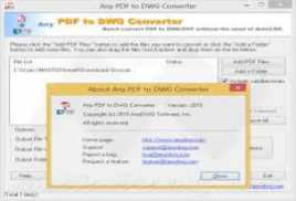 Any PDF to DWG Converter 2016