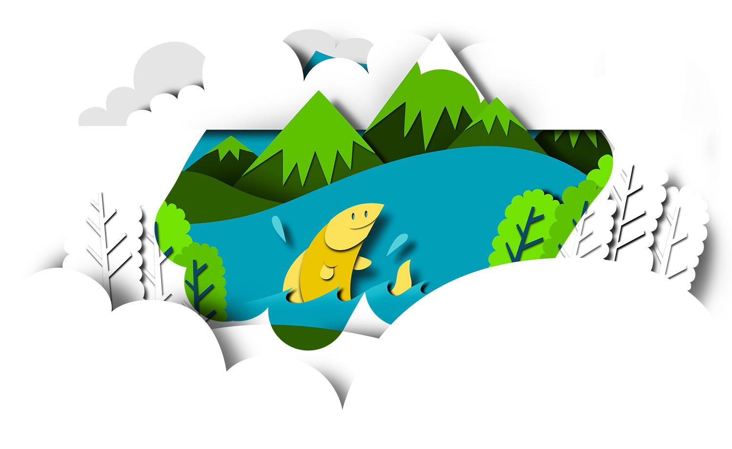 apple_papercut_illustration_cutout_summer_lake_bomboland