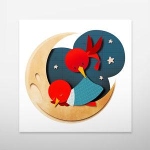 Art print for children's room. Child's room decor. Wall art. Bomboland illustration print.