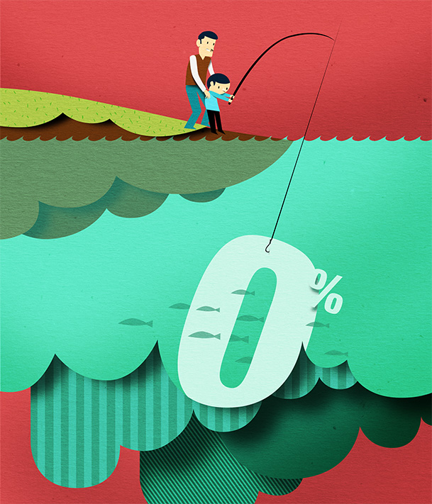 Papercut illustration. Editorial illustration. Economy illustration. Home illustration. Characters.