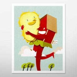 Print. Inkjet print. Print gift. Paper cut illustration. Paper sculpture. Paper art illustration. Paperart. Paper craft illustration.